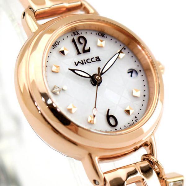 シチズン ウィッカ 腕時計 レディース ソーラー電波時計 ブレスライン CITIZEN wicca KL0-961-11 国内正規品