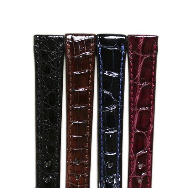 b75afaff7512 ポニー クロコベリー レディース クロコダイル 時計ベルト 対応サイズ:10mm,11mm,12mm,13mm,14mm