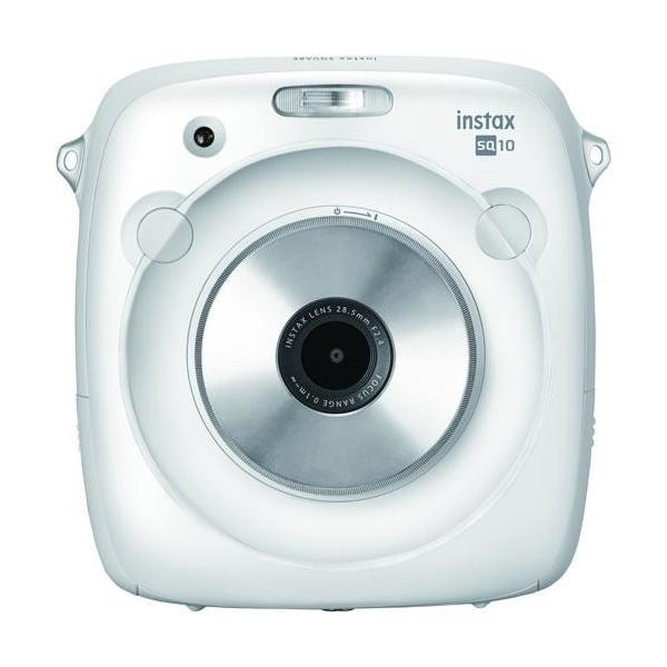 富士フイルム チェキ instax SQUARE SQ10(ホワイト) ハイブリッドインスタントカメラ