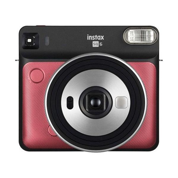 フジフイルム インスタントカメラ instax SQUARE SQ 6 「チェキ」ルビーレッドの画像