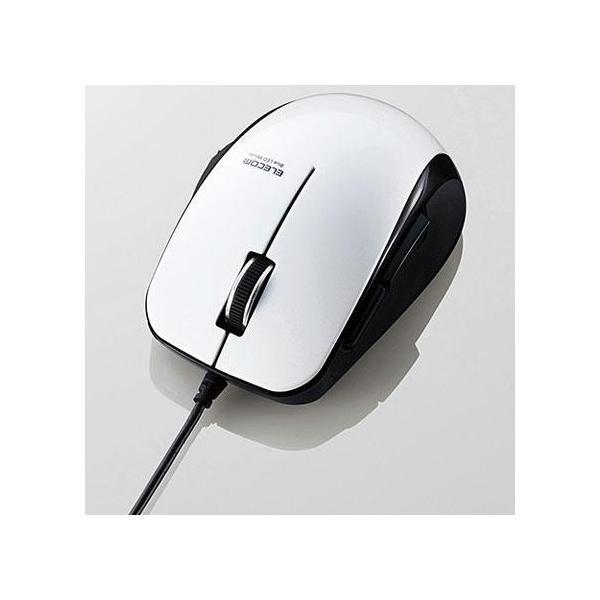 エレコム 静音有線マウス(5ボタン) M-BL28UBSWHの画像