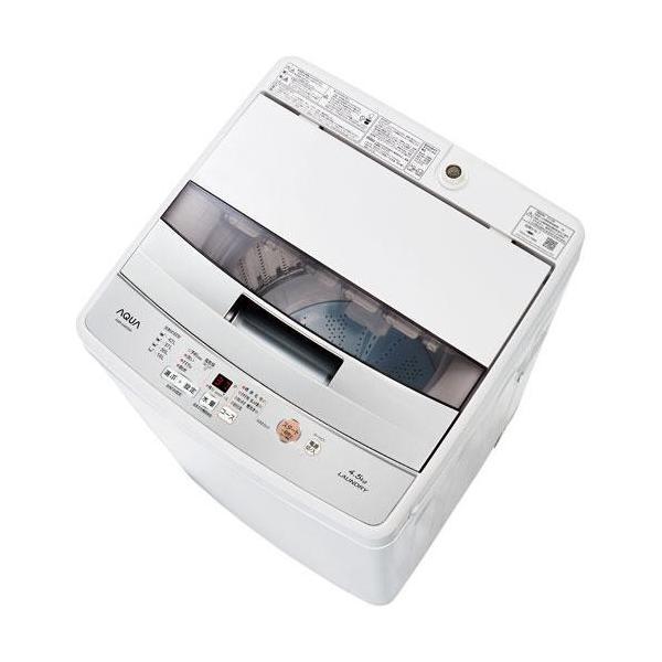 アクア 洗濯機 AQW-S45G(W) ホワイト 洗濯容量:4.5kgの画像