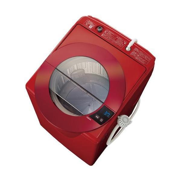 アクア 全自動洗濯機 AQW-LV80G(R) シャイニーレッド 洗濯容量:8.0kgの画像