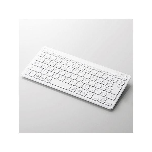エレコム BTミニキーボード/薄型/マルチOS対応TK-FBP100WH ホワイトの画像