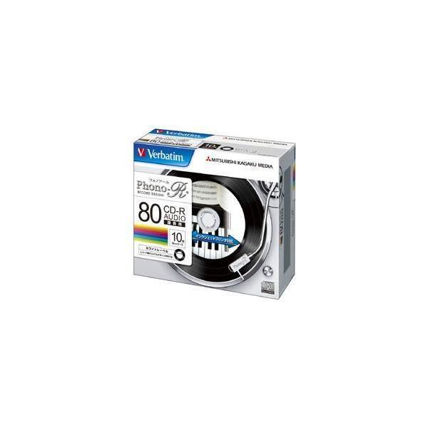 Verbatim MUR80PHW10V1 音楽用 CD-R 80分 1回録音 10枚