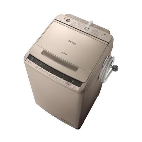 日立 全自動洗濯機 BW-V100C N シャンパン 洗濯容量:10kgの画像