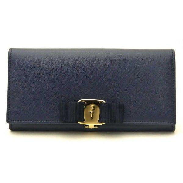 フェラガモ Ferragamo 長財布 財布 OXFORD BLUE 22-A900
