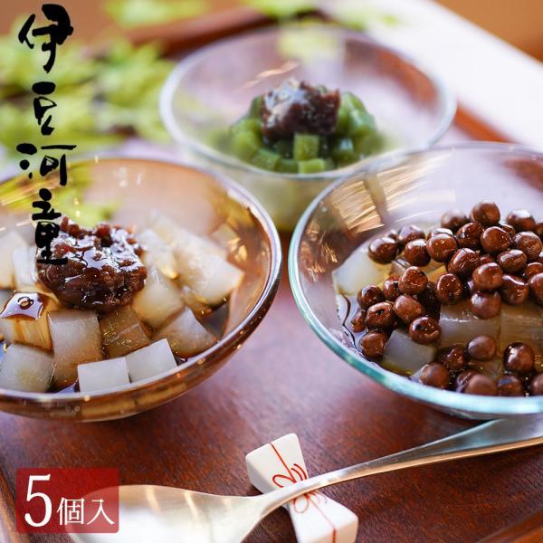 ギフト あんみつ 5個 豆てんスイーツ セット 巾着入り 手土産 和スイーツ 和菓子 送料込 asu