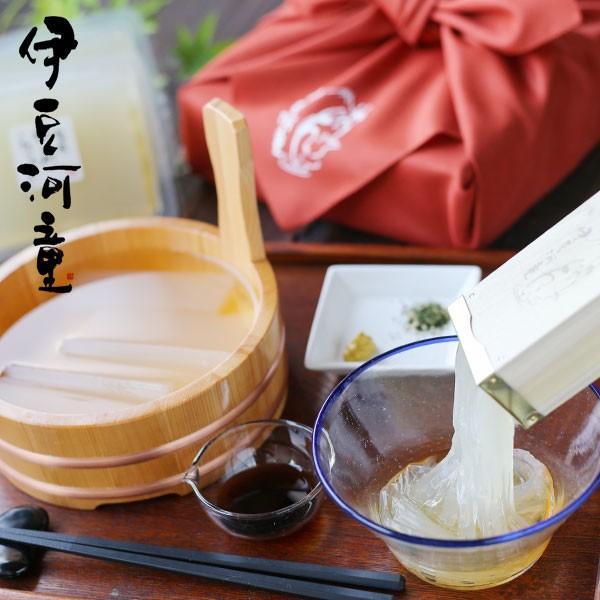 ギフト ところてん 6人前 セット 特製ミニ突き棒付き 和テイスト 風呂敷包み 柿田川名水 手土産 贈り物 食べ物 和菓子 asu