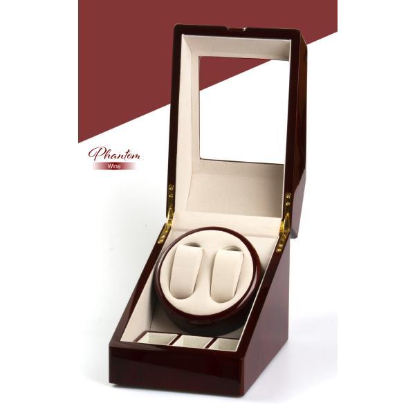 送料無料 ワインディングマシン  ウォッチワインダー マブチモーター  2本巻 合計5本収納 自動巻き時計用/ ファントム|toku109shop|03