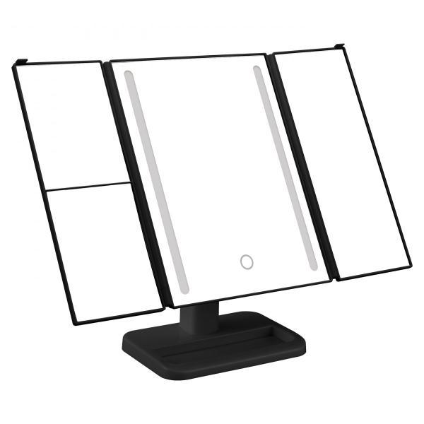 2倍&3倍拡大鏡 卓上ミラー 50灯LEDライト三面鏡 LED メイク 化粧台 乾電池 USB対応 送料無料 /50灯LEDライト三面鏡|toku109shop|07