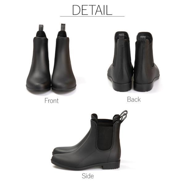 レインブーツ サイドゴア 防水 長靴 ショートブーツ 雨靴 ゲリラ豪雨 大雨 通勤 通学 送料無料/レインブーツ|toku109shop|06