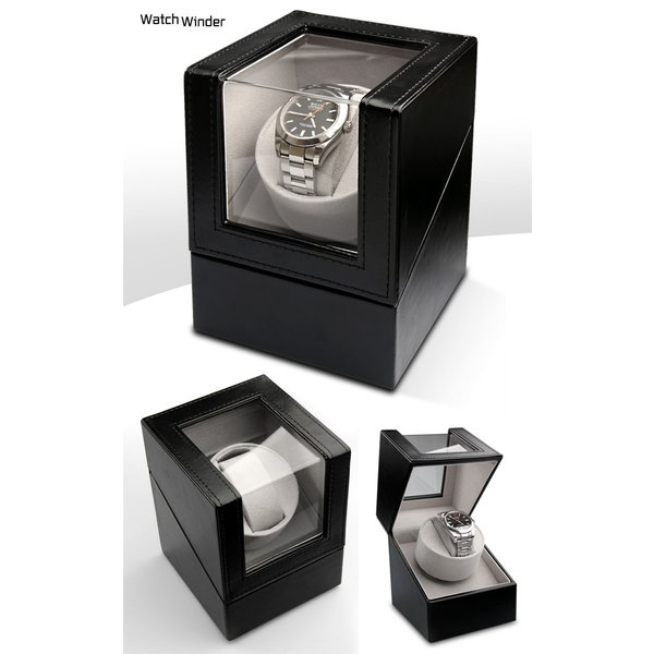 ワインディングマシーン1本巻き 静音設計 マブチモーター 時計 1本巻 時計 自動巻き シングル 送料無料/1本巻き ウォッチワインダー|toku109shop|02