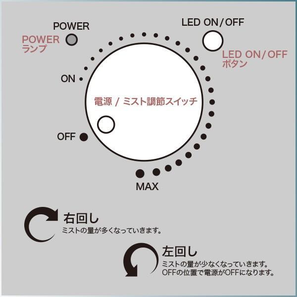送料無料 超音波 アロマ加湿器 ハッピードロップ 超音波加湿器タンク容量3.8L 抗菌カートリッジ /ハッピードロップ|toku109shop|06