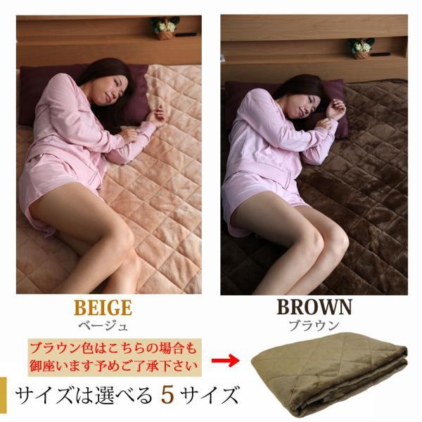 敷きパッド セミダブル ベッドパッド セミダブル パッド フランネル 送料無料  ミンクタッチ|tokumen|06