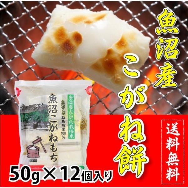 【切り餅・個包装】杵つき 魚沼産こがねもち 1袋(50g×12個入り)|tokusanuonuma
