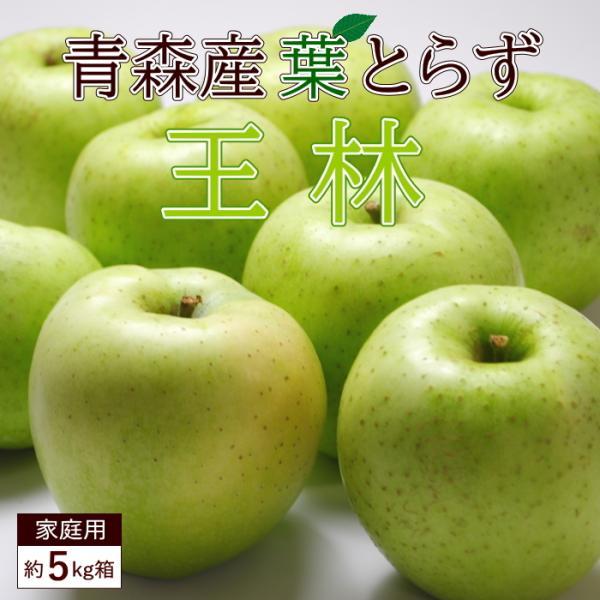 送料無料 葉とらず 王林 【家庭用】 約5kg 14-18個前後 ※青森産、直送、りんご、リンゴ、林檎、青りんご