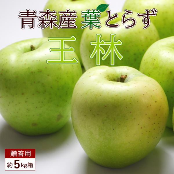 送料無料 葉とらず 王林 【贈答用】 約5kg 14-18個前後  ※青森産、直送、りんご、リンゴ、林檎、青りんご