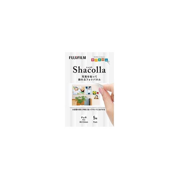 富士フィルム シャコラ(shacolla) 壁タイプ 5枚パック チェキサイズ ホワイト|tokutokutokiwa