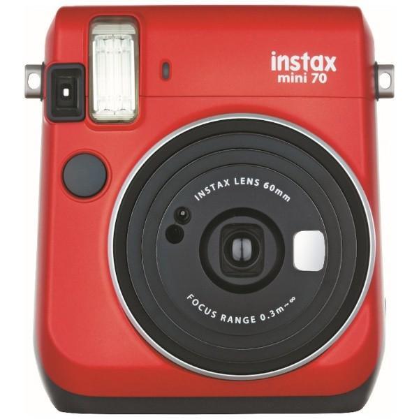 フジフイルム インスタントカメラ instax mini 70N 「チェキ」 レッドの画像