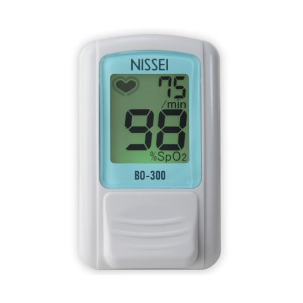 【日本製・特定保守管理医療機器】 NISSEI 日本精密測器 パルスオキシメーター 日本製 BO-300 ブルー 訪問介護 血中酸素濃度計