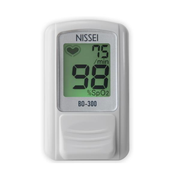 【日本製・特定保守管理医療機器】 NISSEI 日本精密測器 パルスオキシメーター 日本製 BO-300 ライトシルバー 訪問介護 血中酸素濃度計
