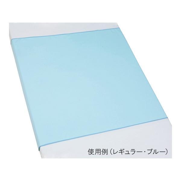 防水シーツ スムースニットタイプ Lサイズ 110×145cm ブルー 100-04 4571331380636
