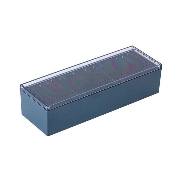 キングジム  名刺整理箱黒 75クロ  4971660355709
