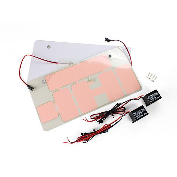 最薄1ミリ EL字光式ナンバープレート 綺麗発光 ブルー 12V 2枚 TOKUTOYO(トクトヨ)