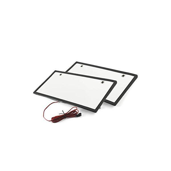 字光式 LEDナンバープレート フレーム 12V/24V兼用 2枚セット TOKUTOYO(トクトヨ)