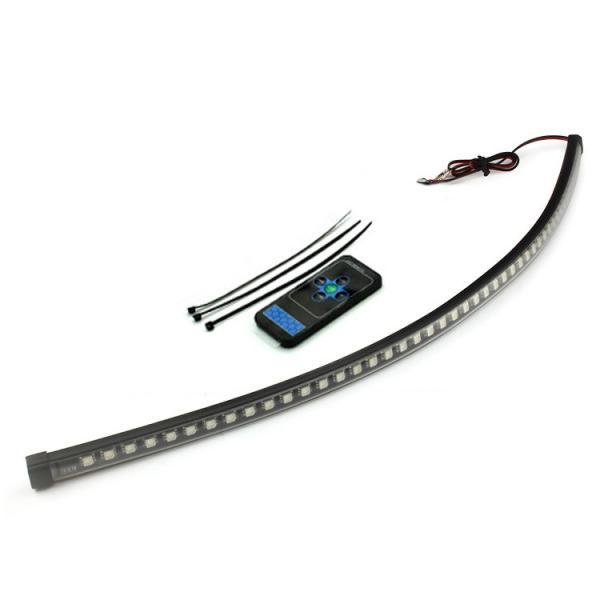12V 対応 14パターン点灯 56cm 48連SMD LEDナイトライダー コントローラーレス 赤外線 リモコン操作 赤 TOKUTOYO(トクトヨ)|tokutoyo