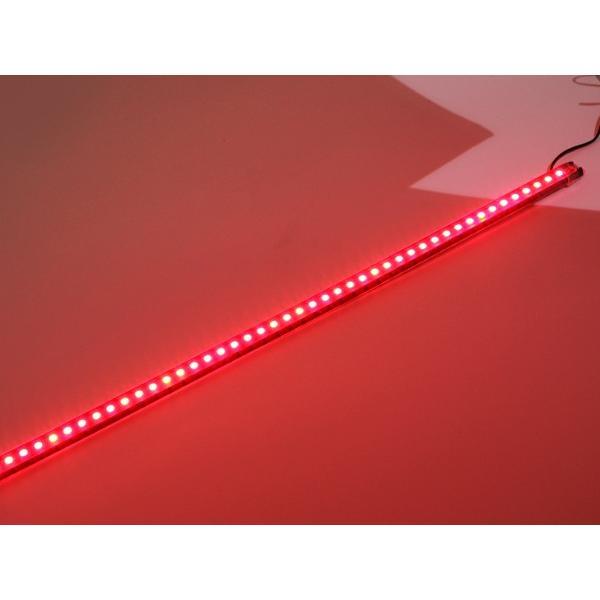 12V 対応 14パターン点灯 56cm 48連SMD LEDナイトライダー コントローラーレス 赤外線 リモコン操作 赤 TOKUTOYO(トクトヨ)|tokutoyo|03