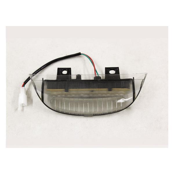 ホンダ ディオDIO ZX/Z4リアスポイラー用 LEDストップランプ スモーク仕様|tokutoyo