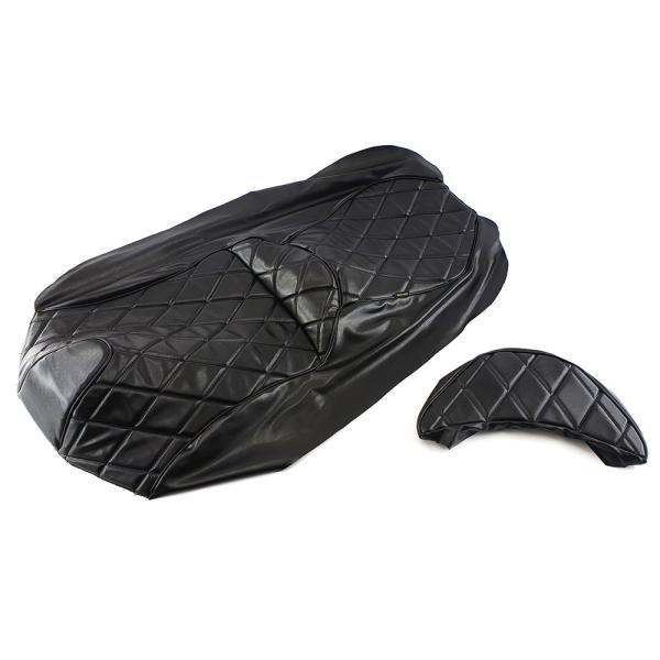 シートカバー 張替え用 黒 レザー調 スカイウェイブ250 CJ44A/CJ45A/CJ46A2点セット TOKUTOYO(トクトヨ)|tokutoyo