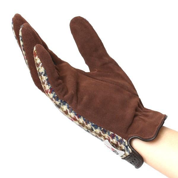 ハリスツイード 手袋 レディース スマホ対応 ベージュ 肌色 女性 レザー かわいい ブランド クロダ|tokyo-himawari|05