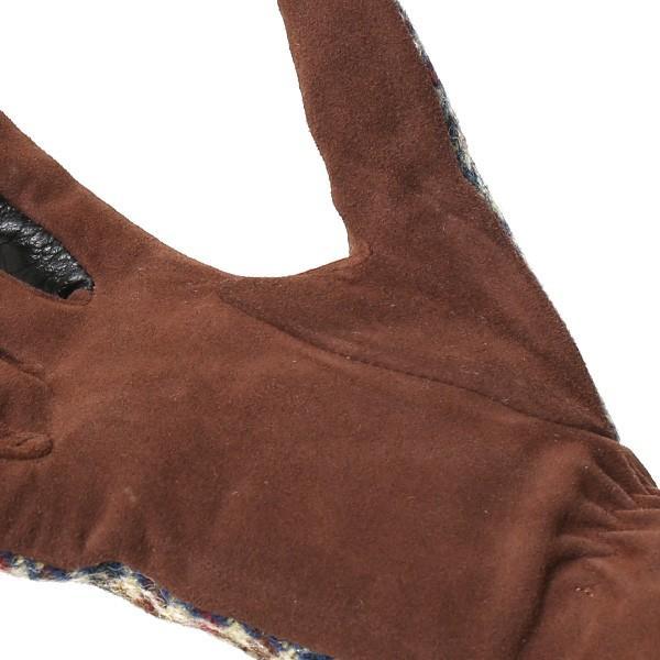ハリスツイード 手袋 レディース スマホ対応 ベージュ 肌色 女性 レザー かわいい ブランド クロダ|tokyo-himawari|06