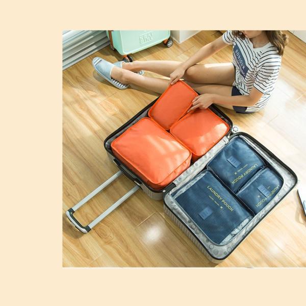 旅行用 トラベルポーチ 収納ポーチ 6点セット 衣類 バッグ ケース 化粧ポーチ メンズ レディース 7色展開 レビュー投稿で全国送料無料 tokyo-panda 02