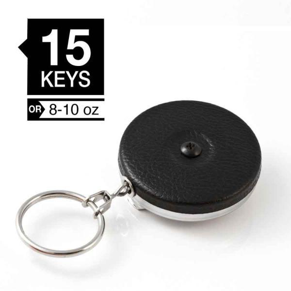 KEY-BAK #485BW オリジナルキーリール 120cmワイヤータイプ ブラック(米国キーバック社純正品) |tokyo-tools