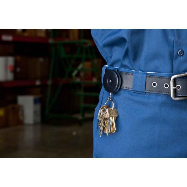 KEY-BAK #485BW オリジナルキーリール 120cmワイヤータイプ ブラック(米国キーバック社純正品) |tokyo-tools|02