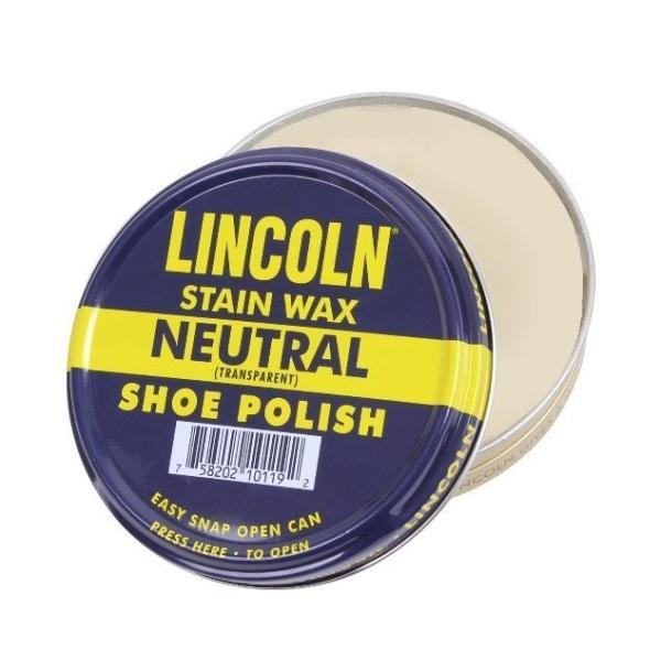 【最強ワックス】 LINCOLN シューポリッシュ 無色 (希少な天然のカルナバワックス製)|tokyo-tools