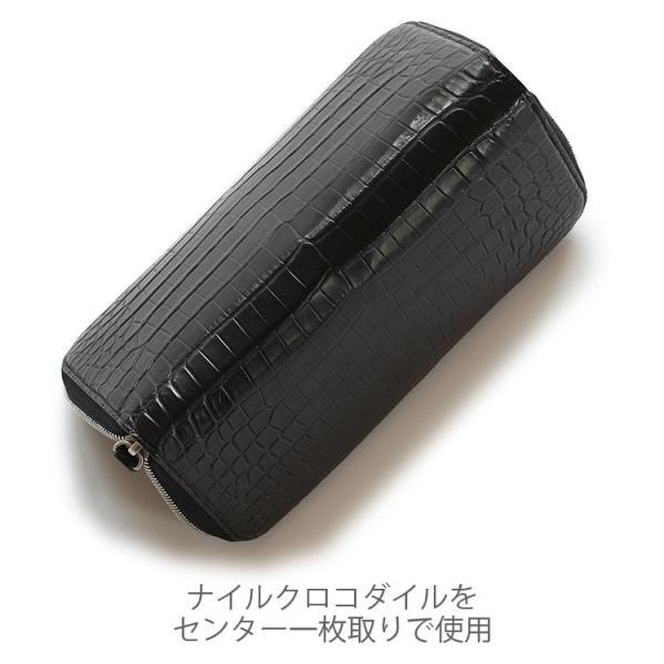 クロコダイル 財布 長財布 メンズ 日本製  ラウンド ファスナー 大容量   ナイルクロコダイルマットラウンド 長財布グランデ|tokyocrocodile|11