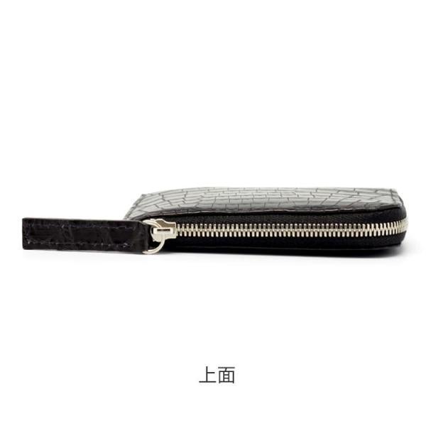 クロコダイル 財布 ミニ財布 メンズ 日本製  プレゼント ポロサス   ナイルクロコダイルマットL字ファスナーミニ財布 tokyocrocodile 09