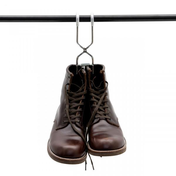 ブーツハンガーシルバー 日本製 職人の手作り 安全靴 エンジニアブーツ等重い靴にも対応