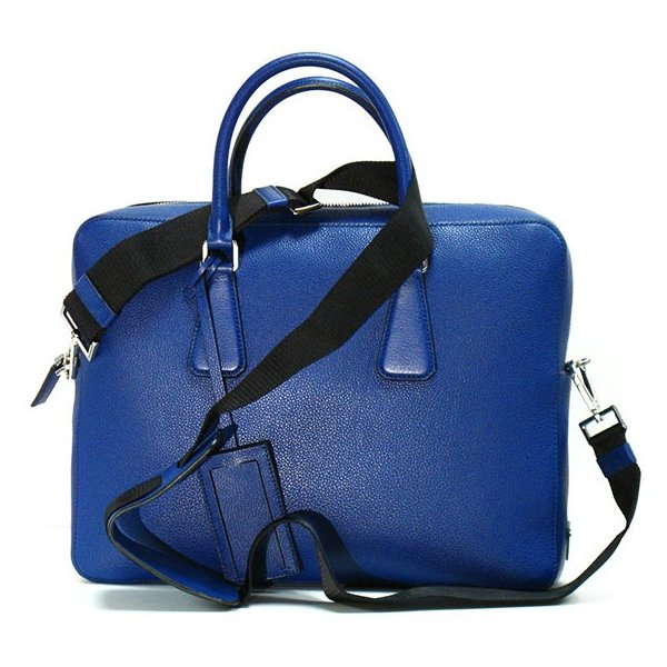 PRADA プラダ ブリーフケース VS363T VITELLO GRAIN BLUETTE|tokyoimport|03