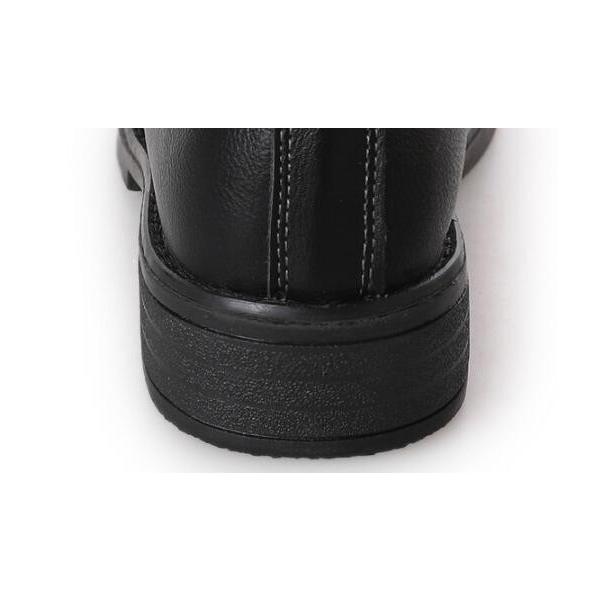 ショートブーツ レディース ローヒール レインブーツ 厚底   合皮レザー  無地 カジュアルシューズ 美脚 歩きやすい 着痩せ効果