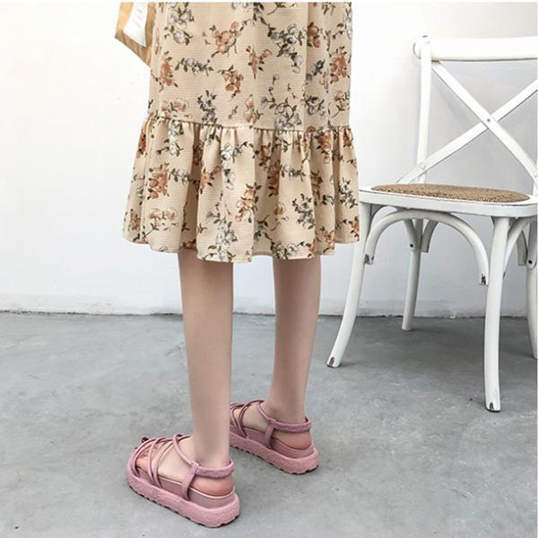 サンダル ウェッジソール レディース 厚底 ゴム シューズ 歩きやすい 疲れない  美脚  夏 3色 ローマ靴|tokyoplenza012|07