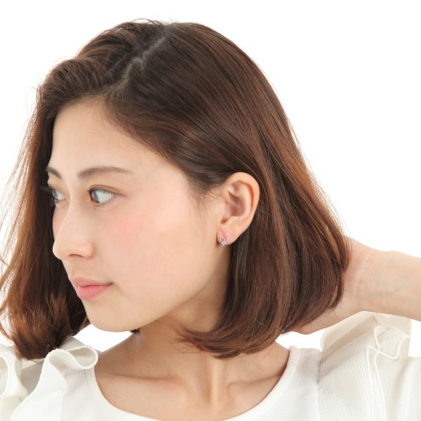 K18WG ハート  アクアマリンピアス 3月の誕生石【宅急便送料無料!ジュエリーケース付き】