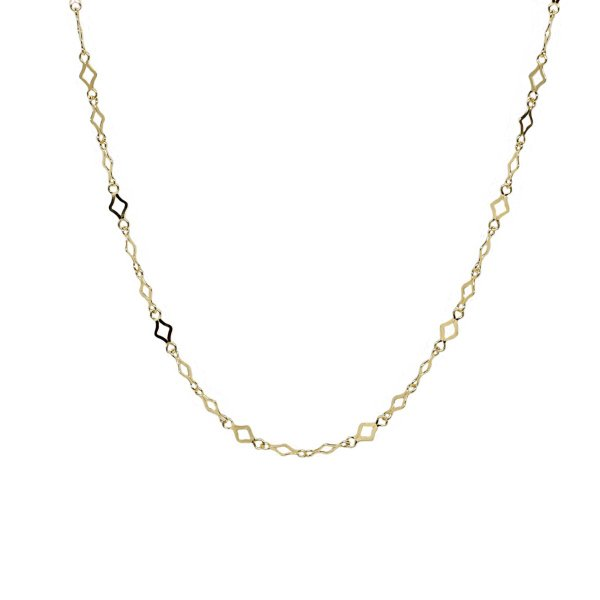 K18 18金 スパークルチェーン デザインネックレス 約1.7g 43cm(ジュエリーケース付き)
