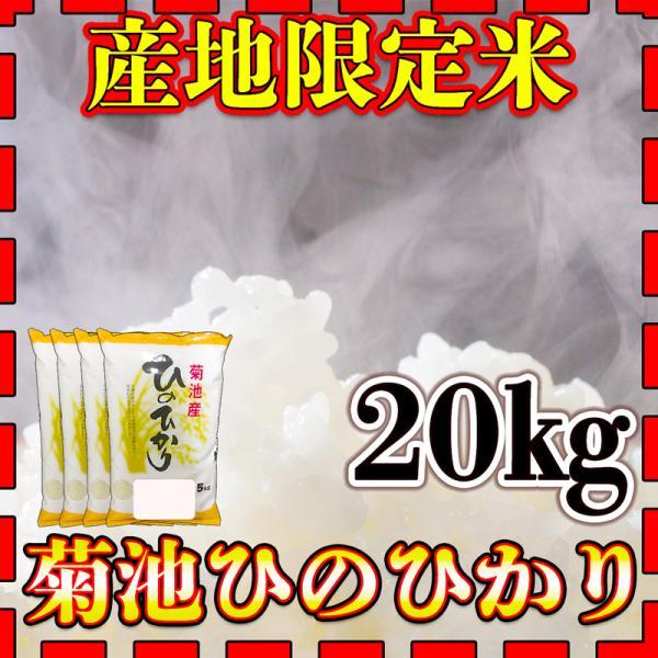 米 20kg 九州 熊本 菊池産 ひのひかり 令和2年産 ヒノヒカリ あすつく 精白米 5kg4個 産地限定米 くまもとのお米 kuma-kome
