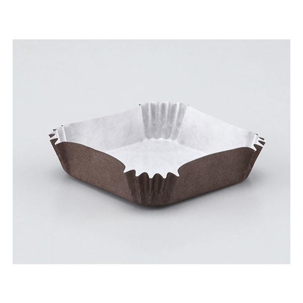 純白ペット 茶角 78×78×20H / 300枚 TOMIZ/cuoca(富澤商店) ベーキングカップ グラシンカップ|tomizawa